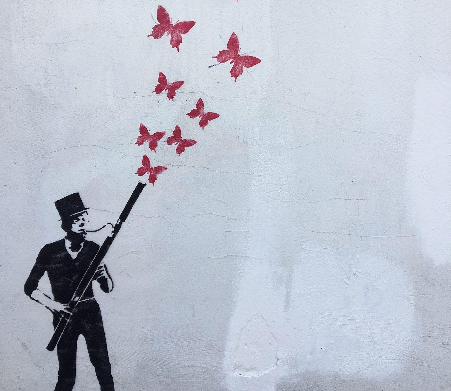 Graffiti Berlin Schmetterlinge