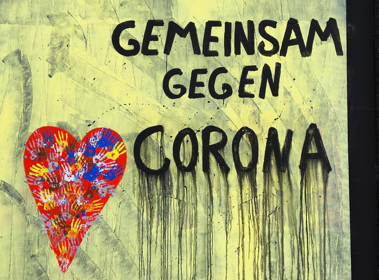 Graffiti gegen Corona