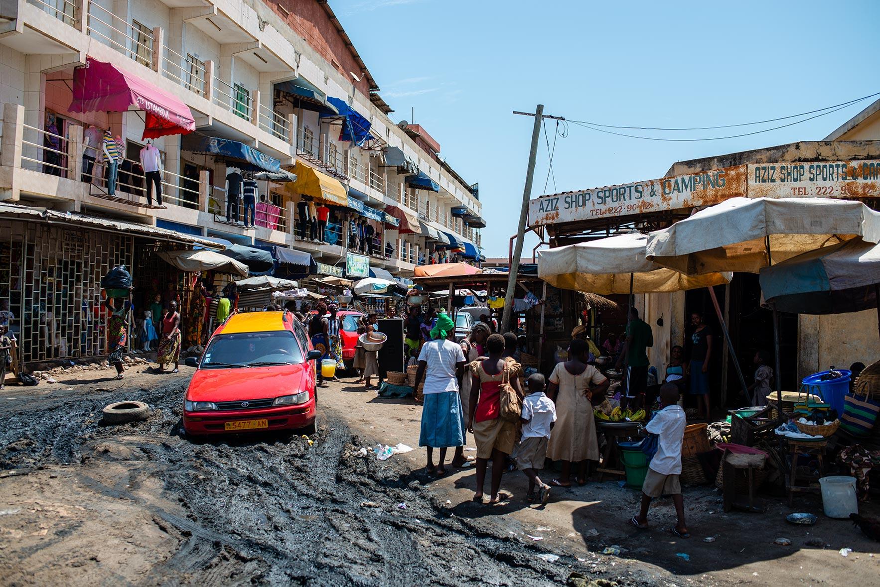 Lomé Marktgeschehen